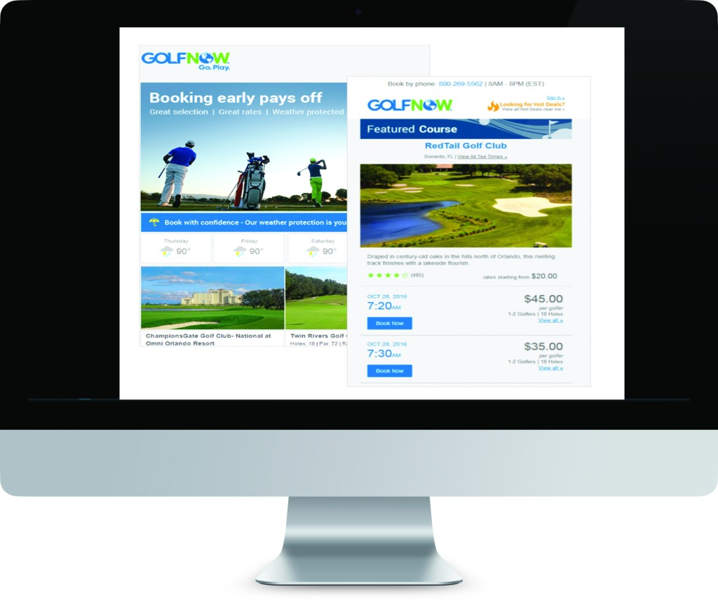 Golf Course Advertising and Email
