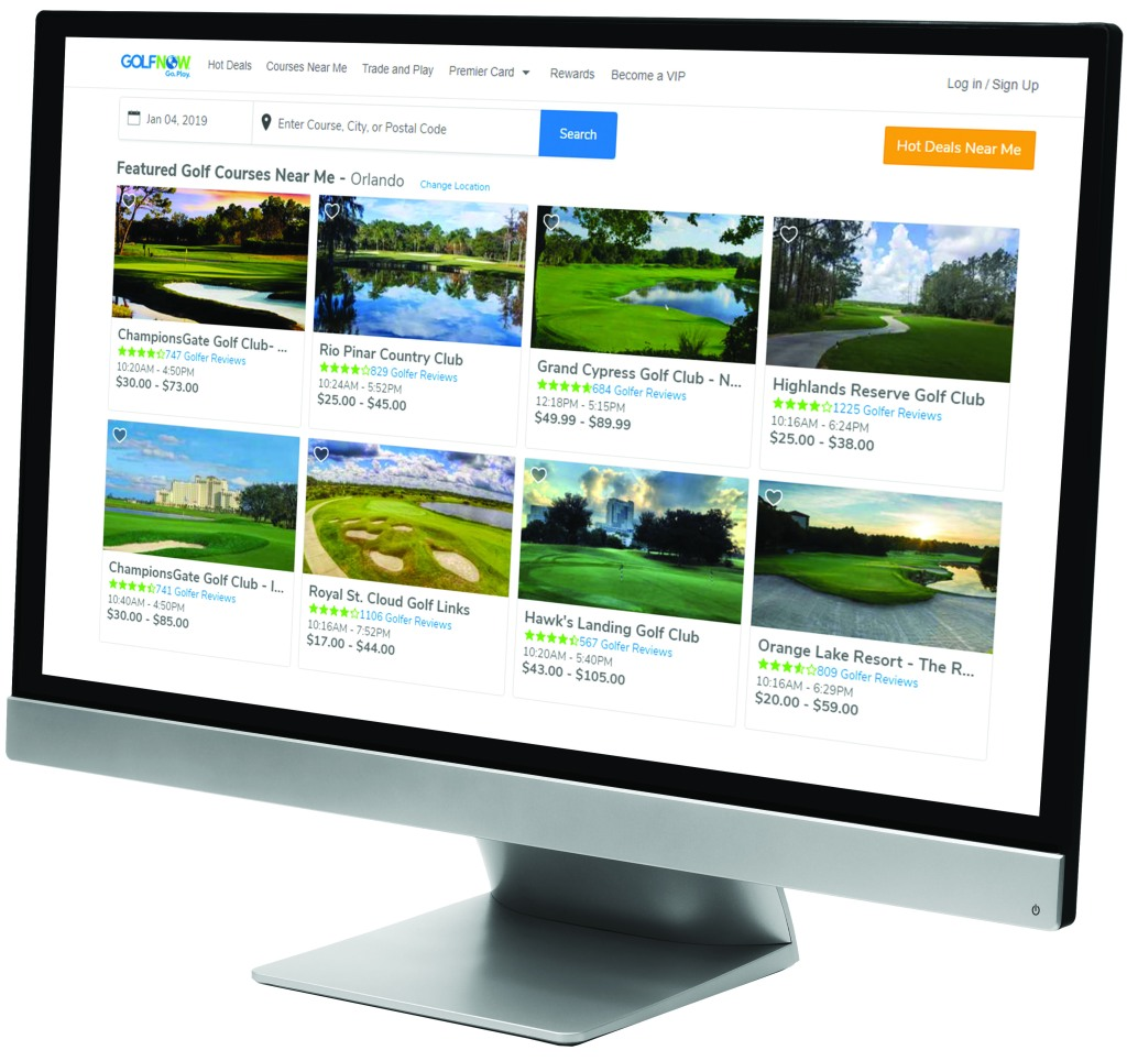 Golf Course Advertising and Search Results