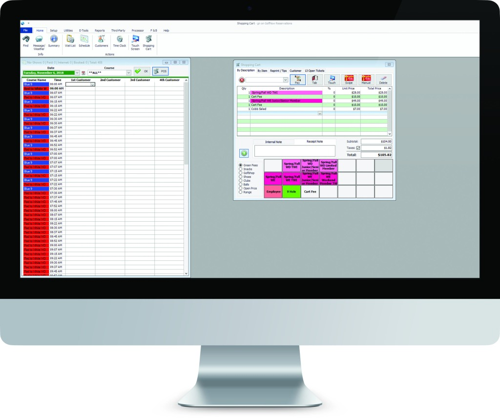 Customizable Tee Sheet Software